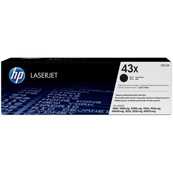 HP 43X (C8543X) Black Toner Cartridge (30000 Yield)