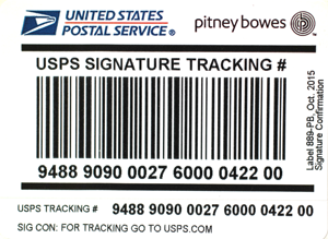 USPS IM®pb Compliant Signature Confirmation Labels – No Insurance (50 labels/pack)