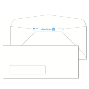 Pitney Bowes® Envelopes #9 Gummed White Window 24lb