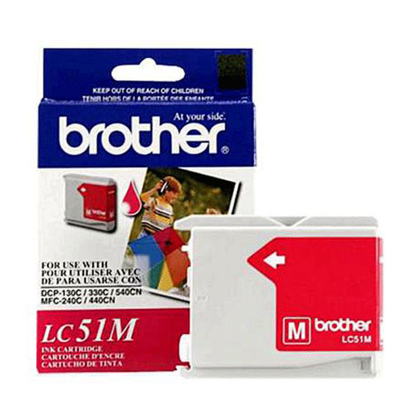 Brother LC51M Magenta Ink Cartridge (400 yield)