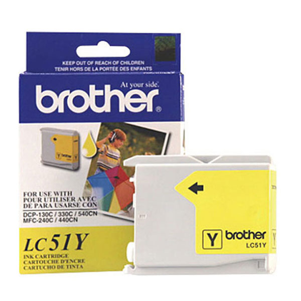 Brother LC51Y Yellow Ink Cartridge (400 yield)