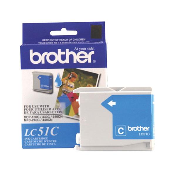 Brother LC51C Cyan Ink Cartridge (400 yield)