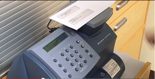 Using a Pitney Bowes postage meter, Desai Communications saves money, time and headaches.
