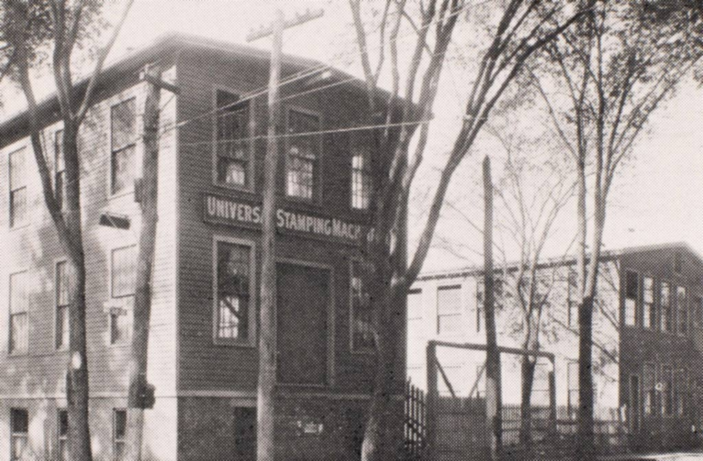 Image of original building of Universal Stamping Machine Company
