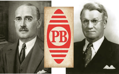 Image of Pitney and Bowes with first edition of the company logo