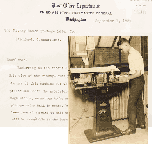 Image of Model A and letter from the US Post Office Department
