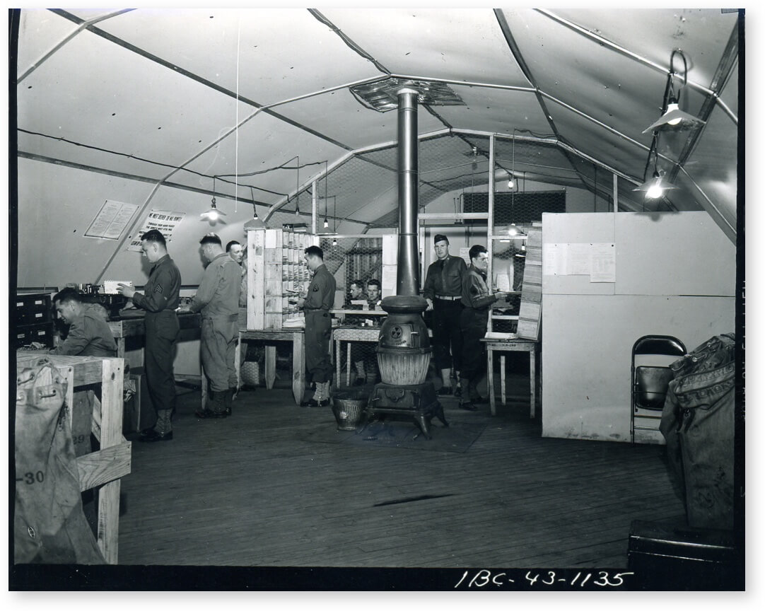Image of WW2 mailroom