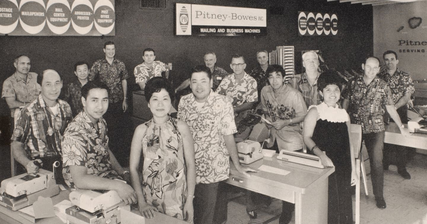 Image of Pitney Bowes employees in Tokyo