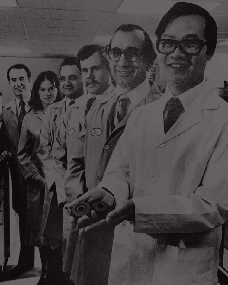 Image of Pitney Bowes team that won an alloy metal patent