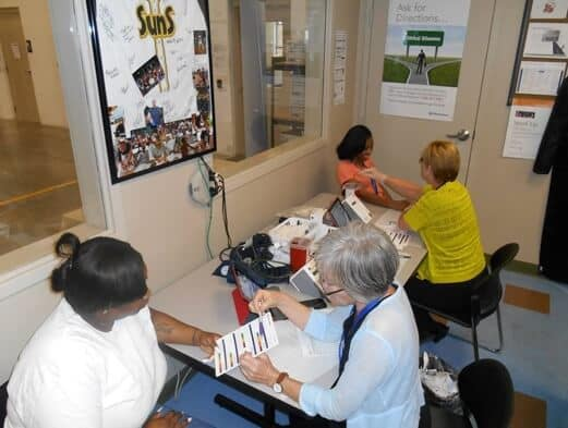 Image of Jacksonville employees receiving health screening
