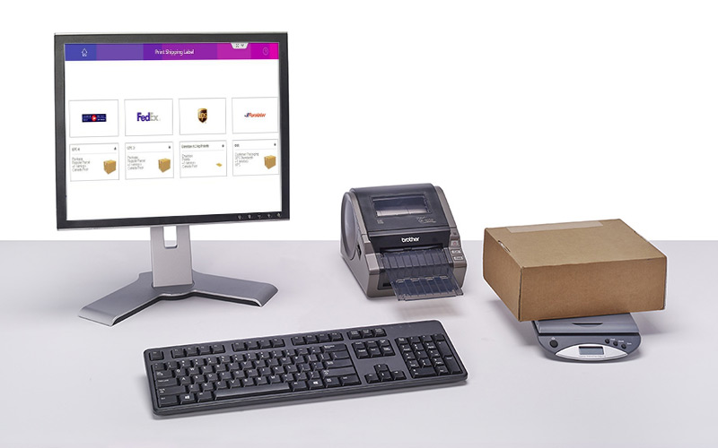 sendPro online with printer and scales