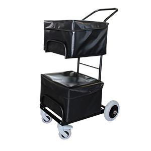 Chariot - 2 corbeilles - 4 roues - 2 housses
