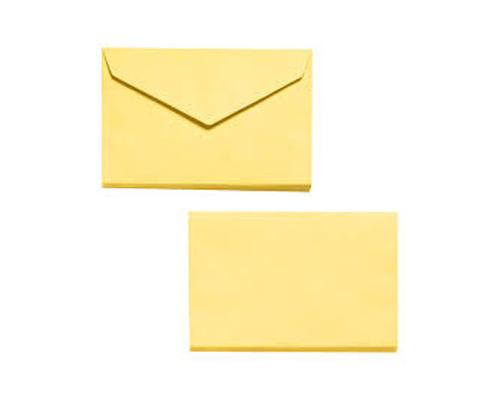 1000 enveloppes pour bulletin de vote jaune 90 x 140mm 70g
