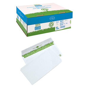 Boîte De 500 Enveloppes - 110X220 (DL) - 80g - Sans Fenêtre - Bande De Protection