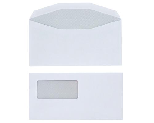 Boite de 1000 env patte inversee - 114 x 229 mm - avec fenêtre