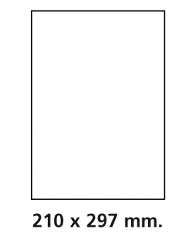 Etiquettes adresses adhésives - 210 x 297 mm