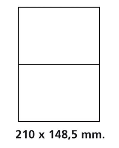 Etiquettes adresses adhésives - 210 x 148,5 mm
