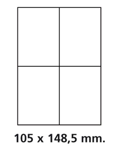 Etiquettes adresses adhésives - 105 x 148,5 mm