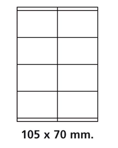 Etiquettes adresses adhésives - 105 x 70 mm