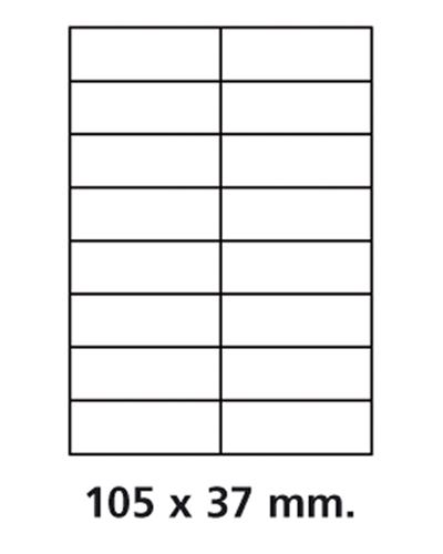 Etiquettes adresses adhésives - 105 x 37 mm