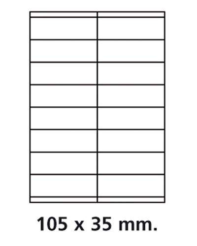 Etiquettes adresses adhésives - 105 x 35 mm