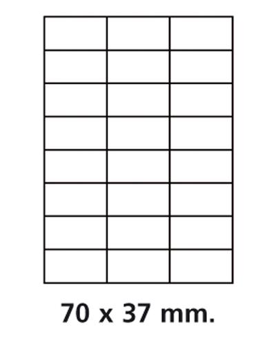Etiquettes adresses adhésives - 70 x 37 mm