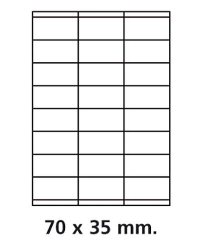 Etiquettes adresses adhésives - 70 x 35 mm