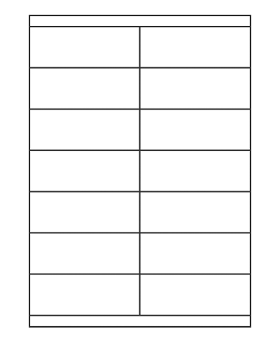 Etiquettes adresses adhésives - 105 x 39 mm
