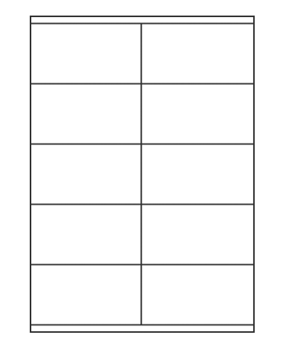 Etiquettes adresses adhésives - 105 x 57 mm