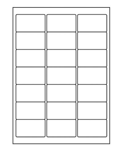 Etiquettes adresses adhésives - 63,5 x 38,1 mm