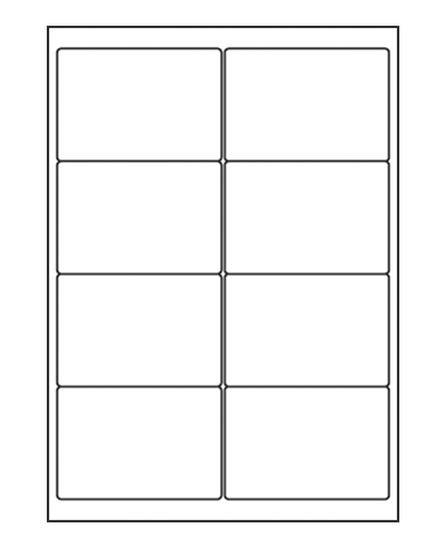 Etiquettes adresses adhésives - 99 x 67,7 mm