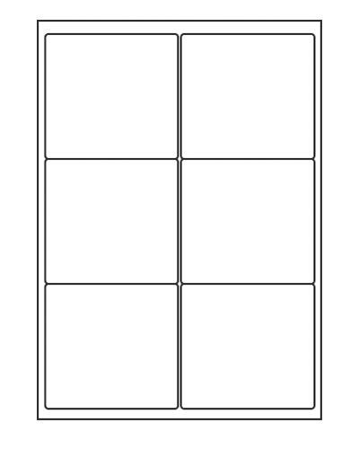 Etiquettes adresses adhésives - 99,1 x 93,1 mm