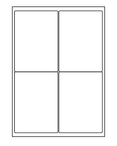 Etiquettes adresses adhésives - 99,1 x 139 mm