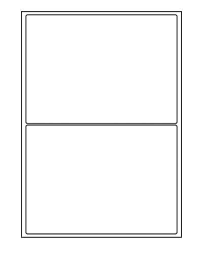 Etiquettes adresses adhésives - 199,6 x 143,5 mm