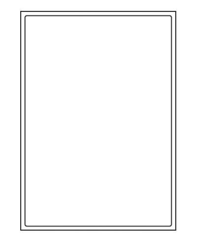 Etiquettes adresses adhésives - 199,6 x 289 mm