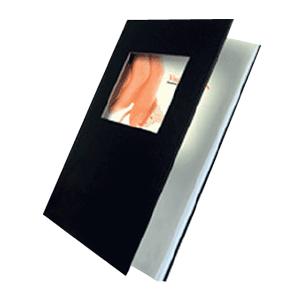 Couverture Similicuir - avec fenêtre - A4 portrait - Noir - 3mm