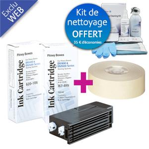 Pack encre + étiquettes + kit de nettoyage DM500