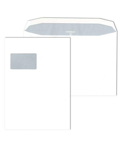 Kuvertierhüllen C4, gummiert, ohne Fenster, 100g/m²
