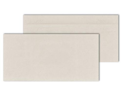Briefumschläge DIN lang, selbstklebend, ohne Fenster, 75g/m², recycelt