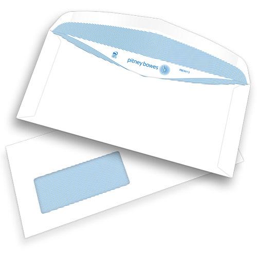 Pitney Bowes® Gummierte C6/5-Kuverts mit Fenster, weiß, 75g/m2