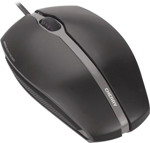 CHERRY® Maus GENTIX SILENT, optisch, 3 Tasten, mit Scrollrad, USB, schwarz (CHEJM03102)
