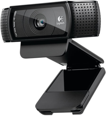 Logitech® Webcam, HD Pro C920, 15 MP, USB 2.0, schwarz