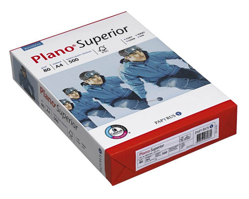 Plano Superior - DIN A4, 80g/m², A-Qualität, 2500 Blatt/Karton
