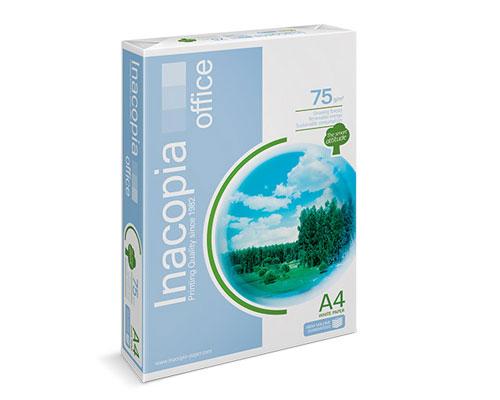 Inacopia Office - DIN A4, 75g/m², B-Qualität, 2500 Blatt/Karton