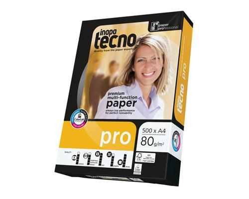 Inapa tecno paper pro - DIN A4, 80g/m², B-Qualität, 2500 Blatt/Karton