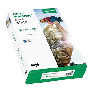 Kopierpapier, RC PureWhite, DIN A4, 80g/m², Blauer Engel, Recycling, 2.500 Blatt/Karton, ISO 90