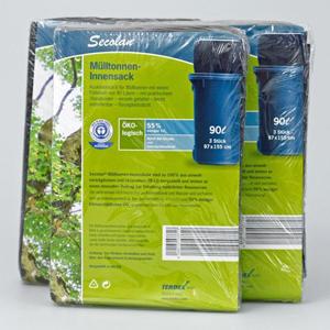Secolan® Mülltonnen-Innensack 120ltr.35mµ schwarz - 28 Rollen - 3 Stk. / Rolle