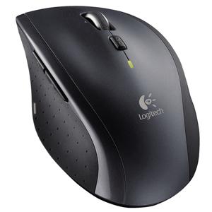 Logitech® Maus Wireless Mouse M705, ergonomisch, Laser, 8 Tasten, mit Scrollrad, kabellos, USB, schwarz/silber