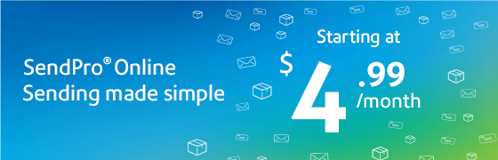 SendPro Online: Sending made simple.  Starting at $4.99