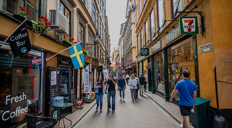 Street shopping in Sweden
